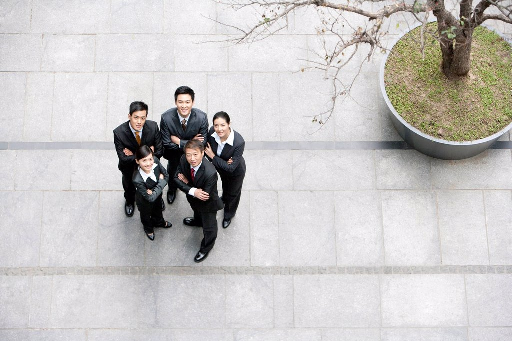 Stock Photo: 1839R-30542 A team of business partners