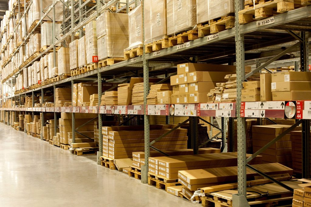 Stock Photo: 1839R-30908 Warehouse boxes