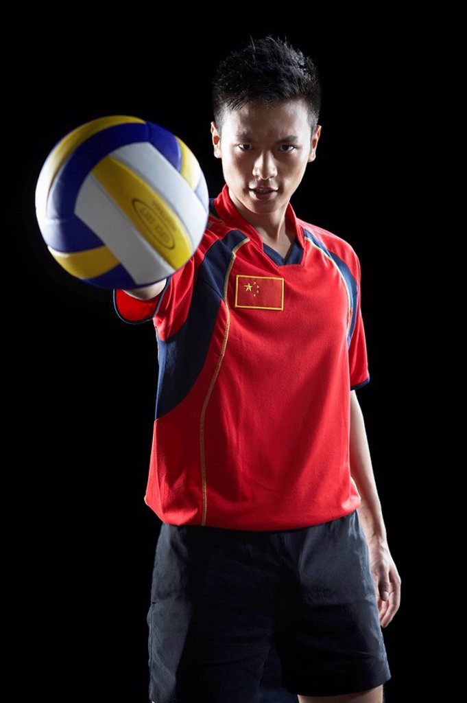 Stock Photo: 1839R-4123 Portrait Of Volley Ball Player