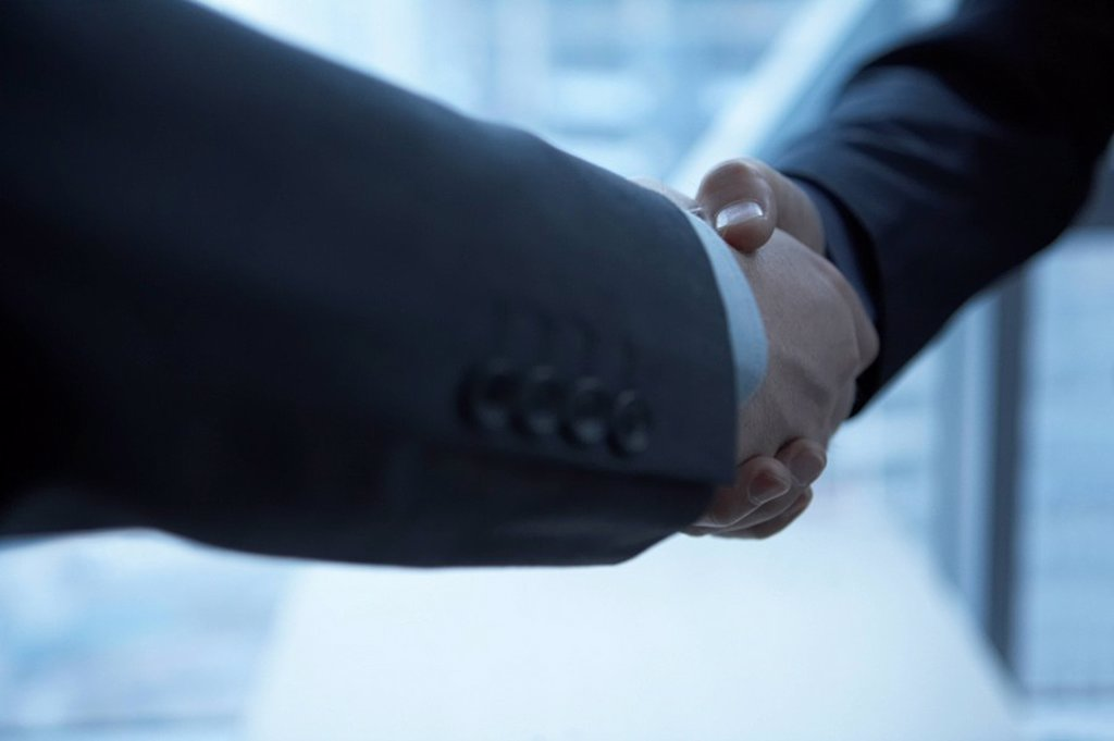 Stock Photo: 1839R-5802 Businesspeople Shaking Hands