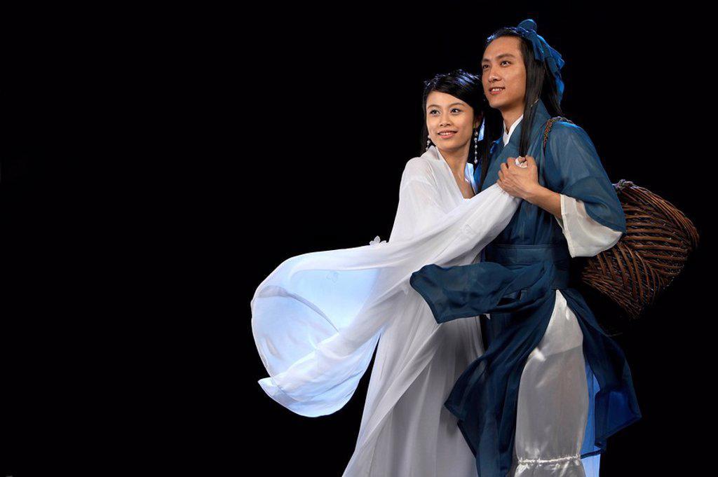 Chinese fairy tale romance characters _ Niu Lang Zhi Nu : Stock Photo