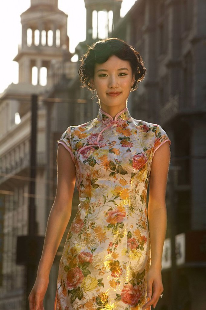 Stock Photo: 1839R-6771 A beautiful young woman in 1930´s Shanghai