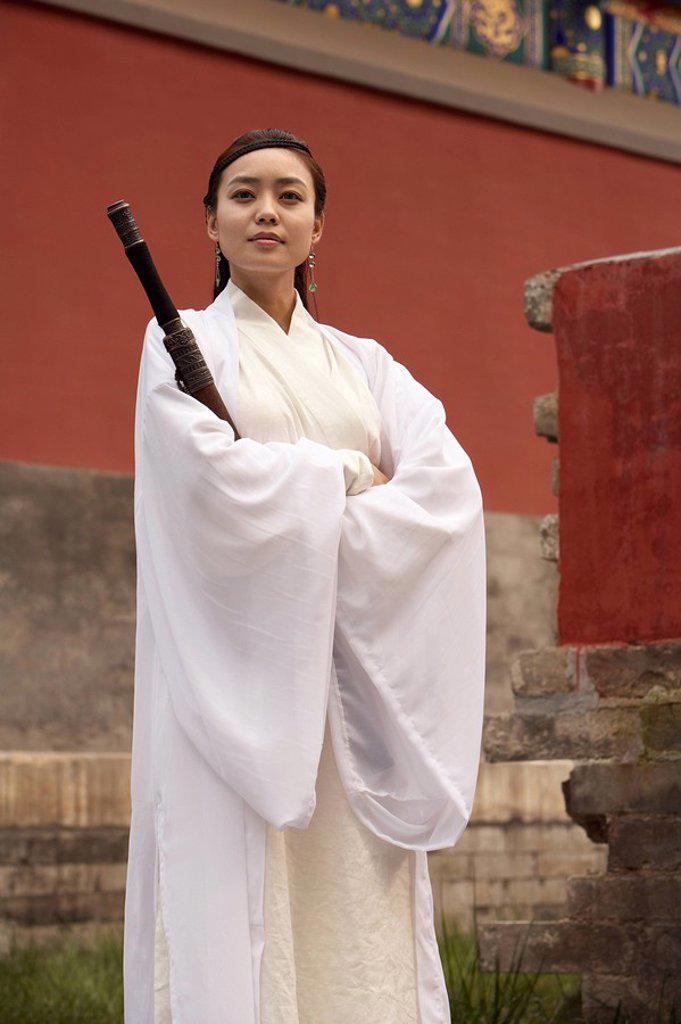 Stock Photo: 1839R-7242 Ancient Chinese Warrior_Hero