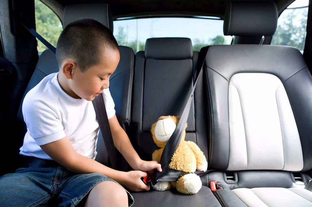 Buckling up for safety : Stock Photo
