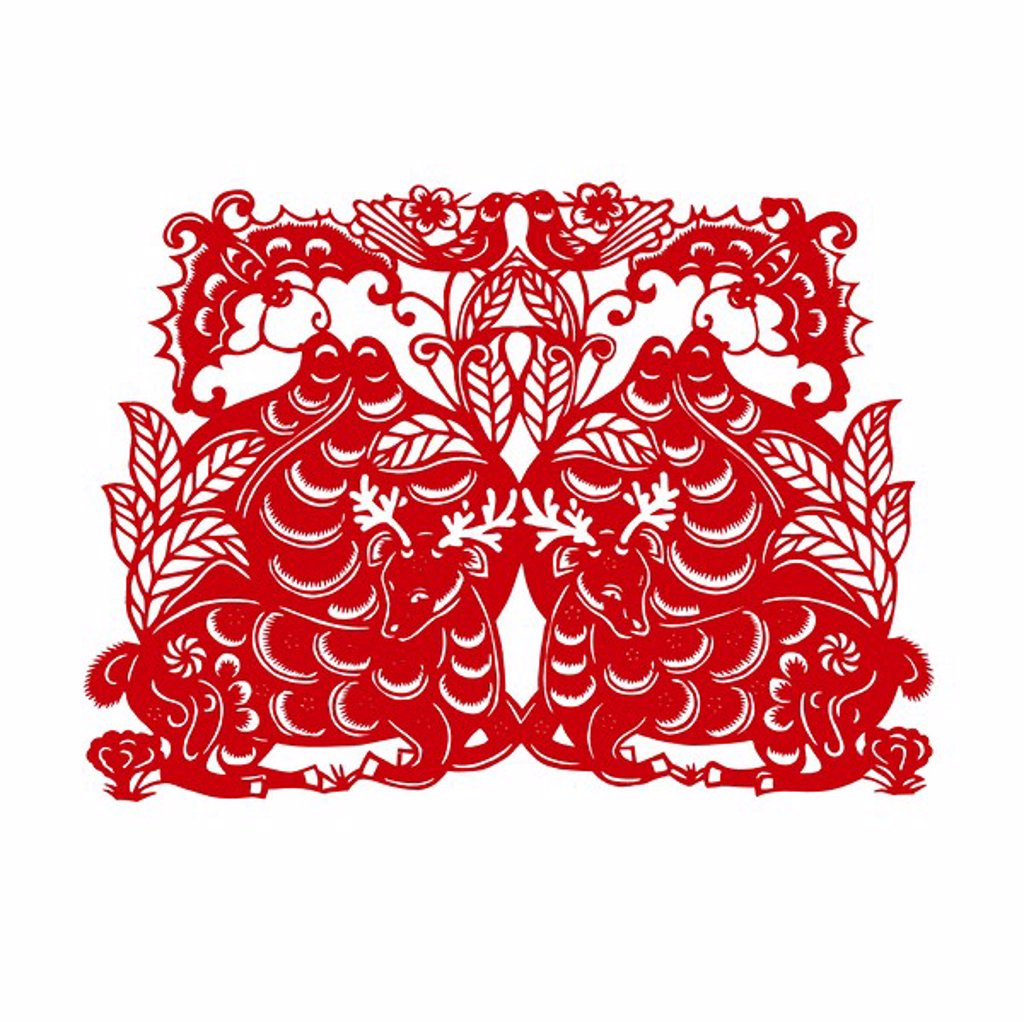 Chinese Traditional Paper cutting : Stock Photo