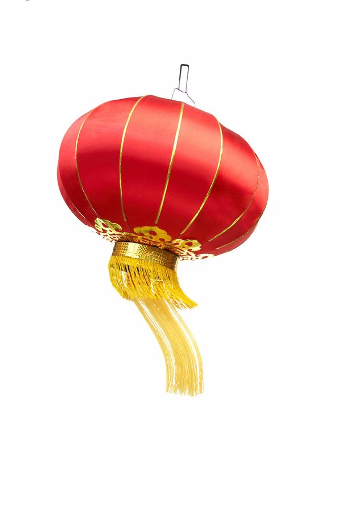 Stock Photo: 1839R-9466 Chinese traditional red lantern