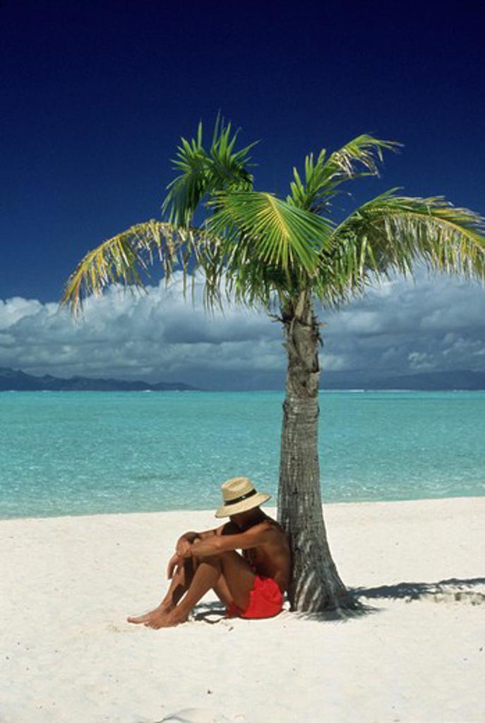 Stock Photo: 1840-12696 Island of Bora Bora, Society Islands, French Polynesia, South Pacific.