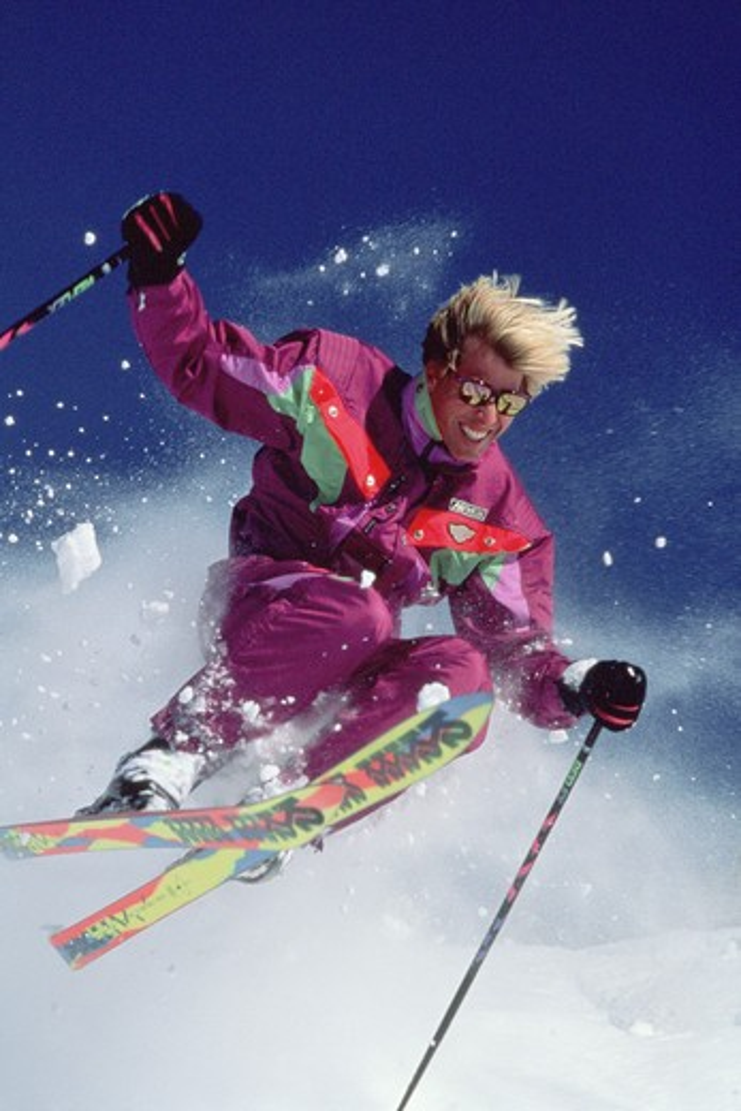 Skiing at Snowbird Ski Resort in Utah near Salt Lake City. : Stock Photo