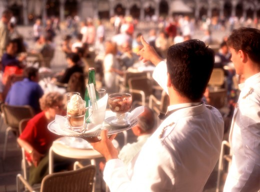 St Mark's Square Florian's Cafe : Stock Photo