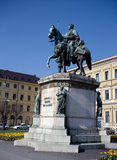 Munich Ludwig I Statue : Stock Photo