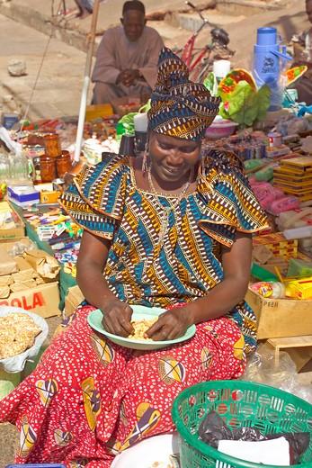 Banjul, Albert Market : Stock Photo