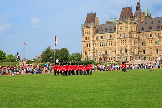 Ottawa, Changing Of The Guard, Parliament : Stock Photo