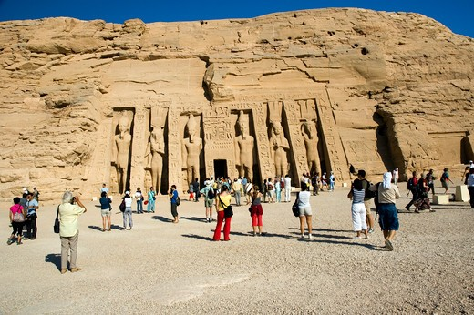 Stock Photo: 1840-16016 Abu Simbel & Queen Nefertari Temple