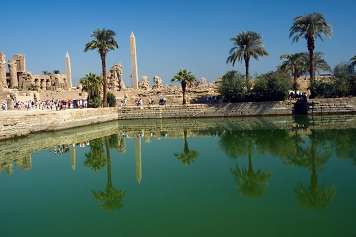 Stock Photo: 1840-16018 Karnak, Sacred Pool
