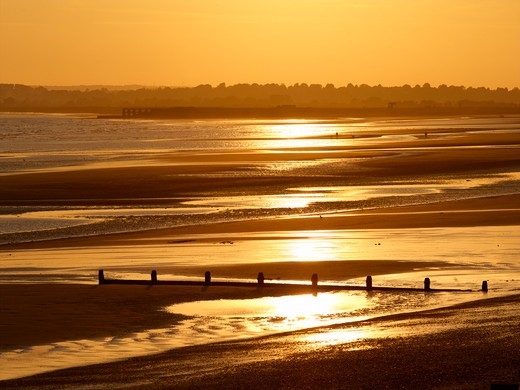 Camber Sands Sunset : Stock Photo