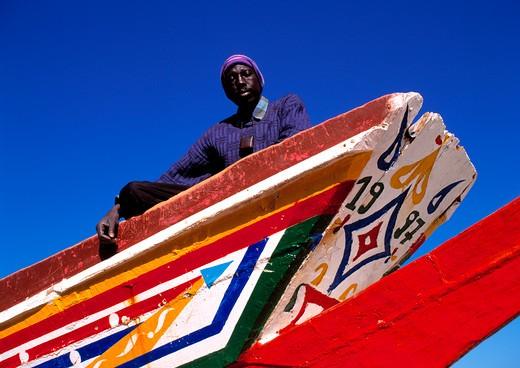 Stock Photo: 1840-16836 Gambia, Fishing Boat