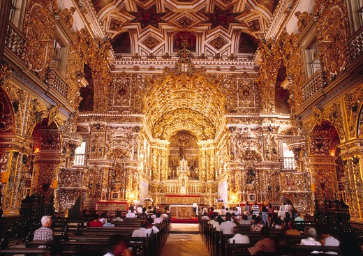Igreja De Sao Francesco, Interior View : Stock Photo
