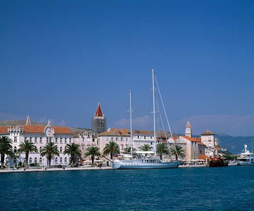 Trogir Old Town & Waterfront, Daytime View : Stock Photo