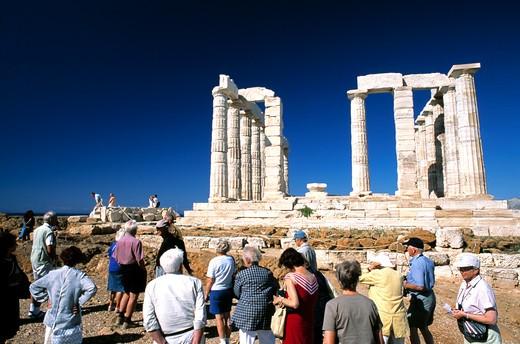 Stock Photo: 1840-17985 Attica, Sounion Temple Of Poseidon