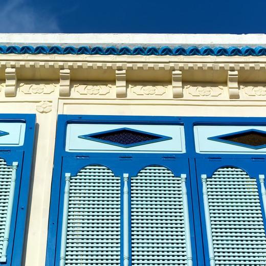 Hammamet, Medina, Windows : Stock Photo