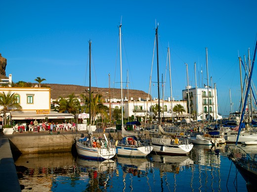 Gran Canaria, Puerto De Mogan, Marina : Stock Photo