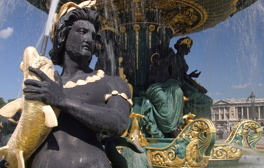 Place de la Concorde, Fountain : Stock Photo