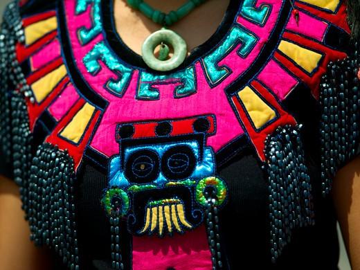 Mexico City, Zocalo, Dancer : Stock Photo