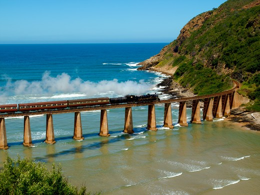 Stock Photo: 1840-19860 Garden Route, Wilderness, Steam Train