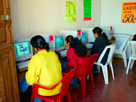 Mexico, Internet Cafe : Stock Photo