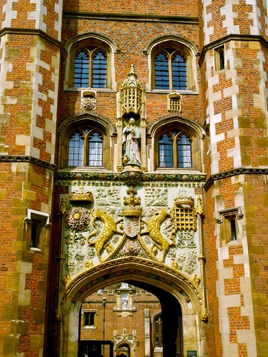 Cambridge, St John's College, Entrance : Stock Photo