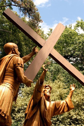 Lourdes, Espelugues Hill, Way of the Cross : Stock Photo