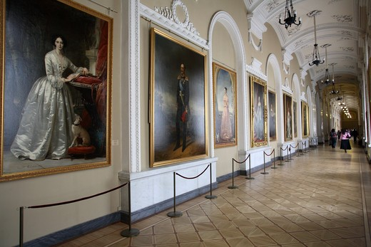 Winter Palace, Portraits Czar's Family : Stock Photo