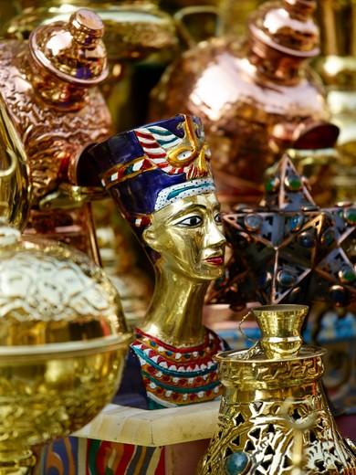 Souvenirs For Sale In The Souk Of Khan El-khali : Stock Photo