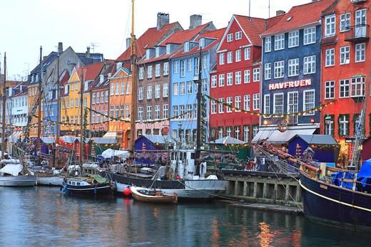 Stock Photo: 1840-21532 Nyhavn, Christmas Market, Copenhagen