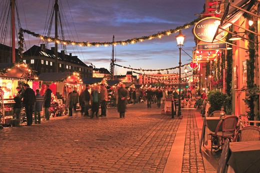 Stock Photo: 1840-21535 Nyhavn, Christmas Market, Copenhagen