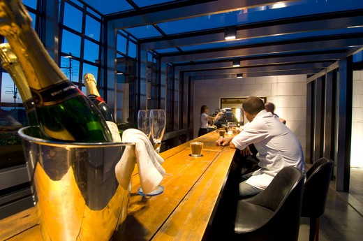 Cracow, Rooftop Bar Of Hotel Stary : Stock Photo