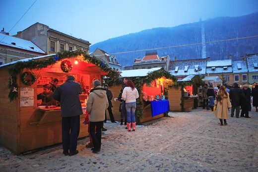 Christmas Market, Brasov : Stock Photo