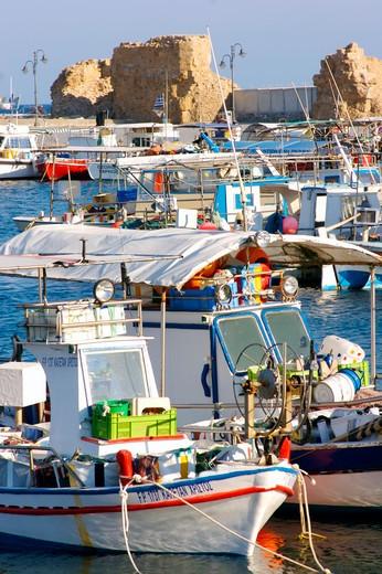 Paphos Town, Harbour : Stock Photo