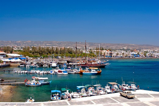 Stock Photo: 1840-22659 Paphos Town, Harbour