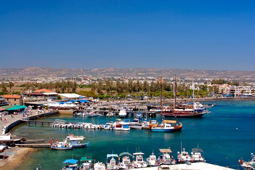 Paphos Town, Harbour : Stock Photo