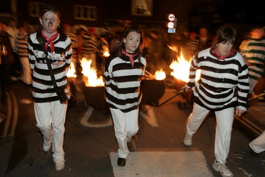 Stock Photo: 1840-23008 Lewes, Bonfire Night
