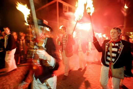 Lewes, Bonfire Night : Stock Photo
