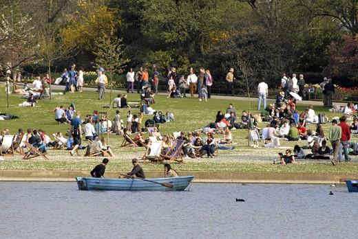 Boating Lake In Regent's Park London : Stock Photo