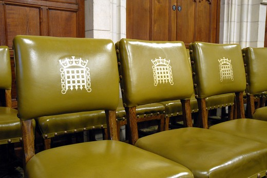Stock Photo: 1840-23478 Chairs In A Meeting Room, House Of Commons