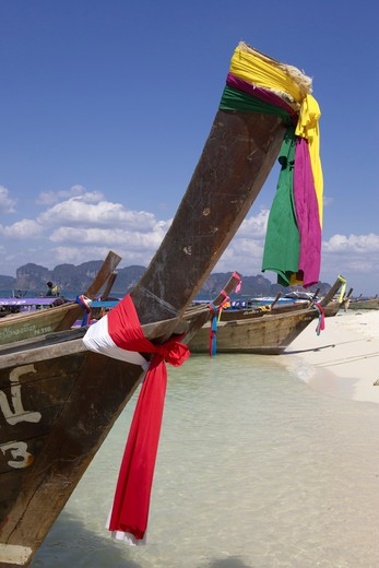 Stock Photo: 1840-23499 Krabi, Poda Island, Longtail Boats