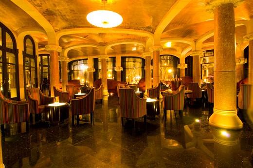Cafe Vienes  In Casa Fuster, Gracia, Barcelona, Catalunya, Spain : Stock Photo