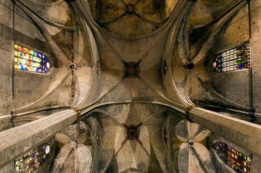 Stock Photo: 1840-24898 Church Of Santa Maria Del Mar, La Ribera, Barcelona.