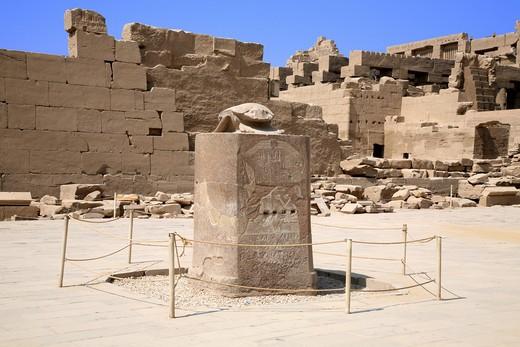 Stock Photo: 1840-24941 Scarab Statue, Karnak Temple