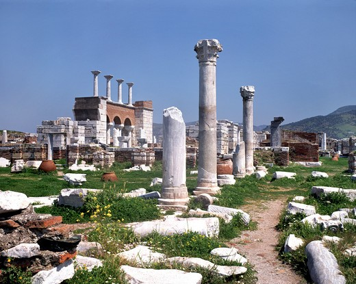 Ephesus, Church Of St John : Stock Photo