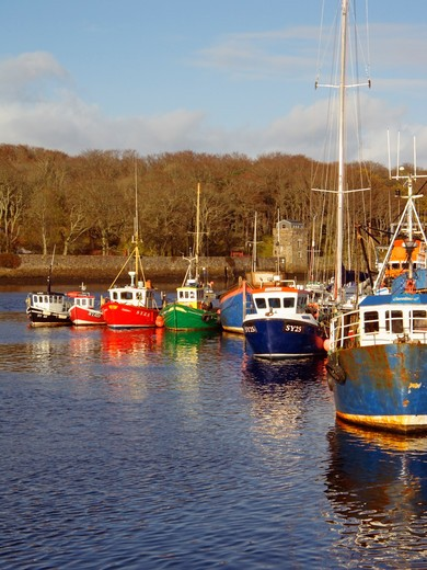 Stock Photo: 1840-26407 Cromwell Street Quay, Stornoway Harbour, Stornoway, Isle Of Lewes, Outer Hebrides